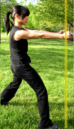 Center Line Front Stance Fists